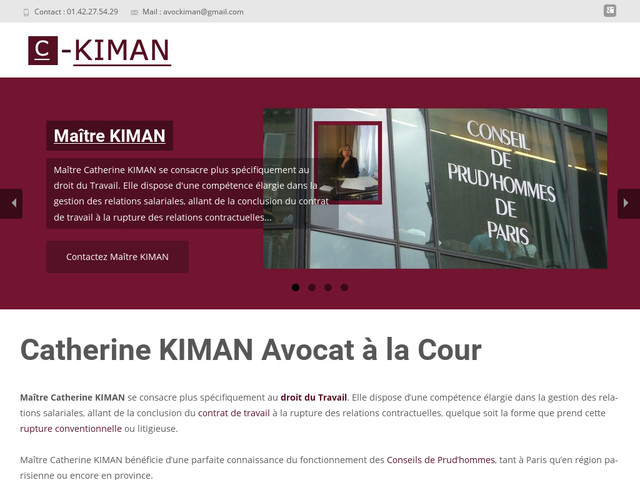 Photo du site de Maître KIMAN Catherine