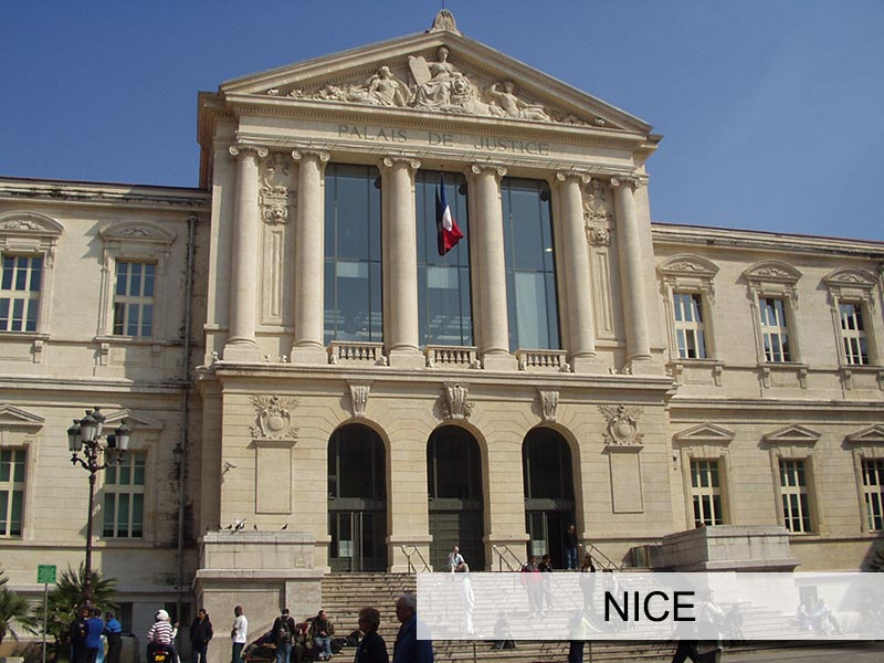 Photo du tribunal de Nice
